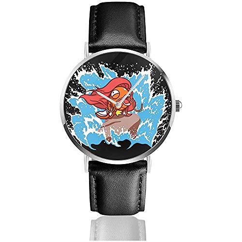 Unisex Business Casual Monster Magikarp Parte dell'orologio in pelle al quarzo Pokeworld Watches