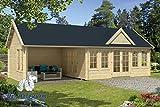 70 mm Gartenhaus Big Ben ca. 930x400 cm (Grau imprägniert)