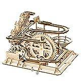 iBaste Juego de construcción mecánica de construcción – Puzzle 3D de edificios – Puzzle 3D Marble Run Puzzle ingeniería maquetería de madera Craft Kit