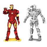 Fascinations Metal Earth 3D Model Kits Marvel Avengers Set of 2 Iron Man