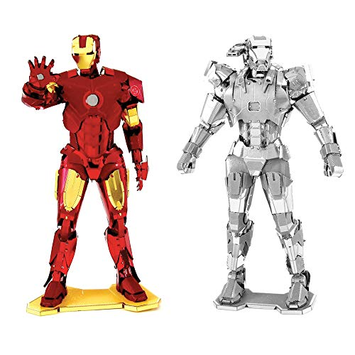 Fascinations metal earth 3d model kits marvel avengers set of 2 iron man and war machine