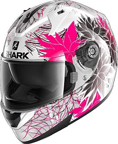 Shark NC Casco per Moto, Hombre, Negro/Rosa, M