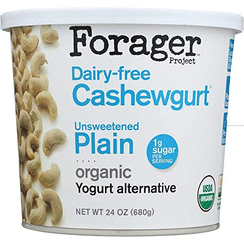 Forager Organic Plain Cashew Milk Creamy Yogurt, 24 Ounce -- 6 per case.