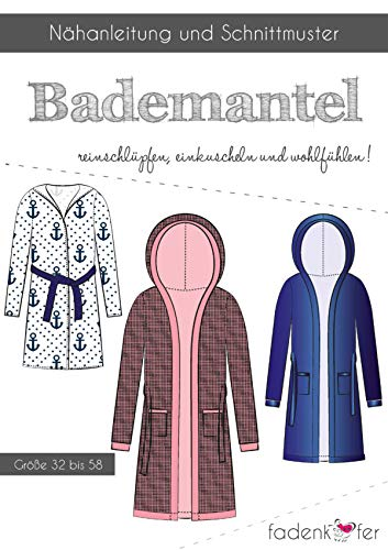 Schnittmuster und Nähanleitung - Damen Bademantel - Kuschel