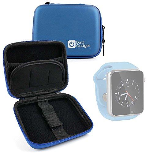 DURAGADGET Excelente Funda Rígida para Reloj YuanGuo® | Smarter® | Smartlife YG8 | Stoga ST-DM360 | Turnmeon | Viwel | VOSMEP + Mini Mosquetón - Azul