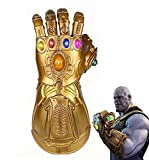 Adult Infinity Gauntlet, LED Light Up Infinity Glove Thanos Gauntlet Props 1:1 Reproduction for Halloween Cosplay (Bronze)