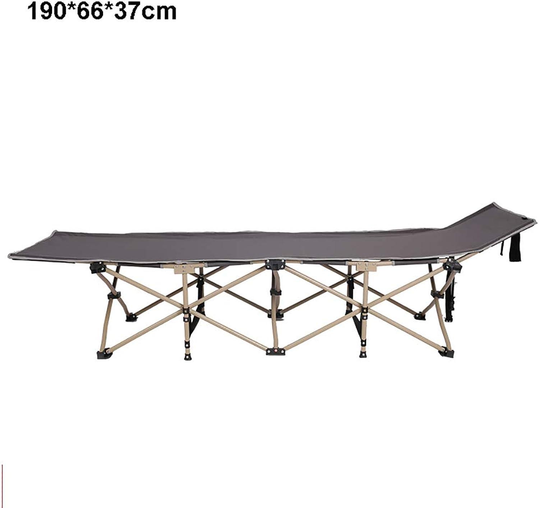 Steel Pipe Folding Beach,Pool,Camping Single Bed(190×66×37)