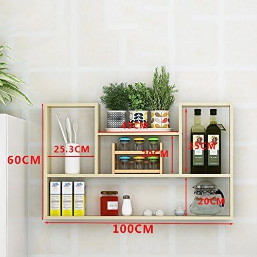 Clothes UK- Kreative Wohnzimmer Wandhalterung Bücherregal Moderne Einfache Wand Bücherregal Schrank Wand Regale 60x100x15 cm Regal (Farbe   C, Größe   S)