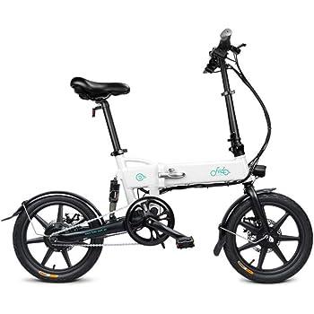 Bicicleta eléctrica D2 bicicleta diseño plegable para un cómodo transporte pedal, ciclomotor y modo eléctrico pura carga útil máxima 120 kg El motor 250 W proporciona un máximo de 25 km/h, blanco: