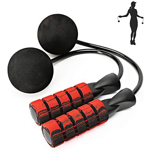 Aprllolg Corde à Sauter lestée de Fitness Longueur réglable pour entraînement Endurance, Fitness à la Maison (Rouge sans Corde)