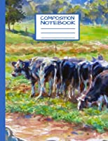 """Composition Notebook Cowscape 3: Wide Ruled Notebook 