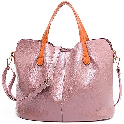 Travistar Handtasche Damen Schultertasche Umhängetasche Shopper Elegant Tasche Tragetasche Damen Groß Henkeltasche für Arbeit Schule Shopper Lässige täglich,Rosa