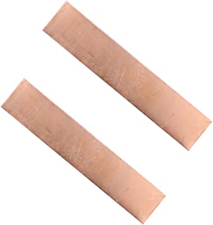 Pure Copper Anode 2 Pcs, 3.93 x 0.79 x 0.04 Inch (19 GA) 99.95% High Purity Copper Electrode Strip, Pure Copper Sheet for Copper Plating and Copper Electroplating