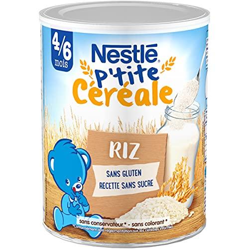 NESTLÉ Bébé - P'tite Céréale - Riz - Dès 4/6 Mois - 220 g