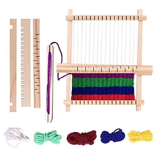 Webrahmen Kit Holz Handgewebte Strickmaschine Weaving Loom Handgestrickte...