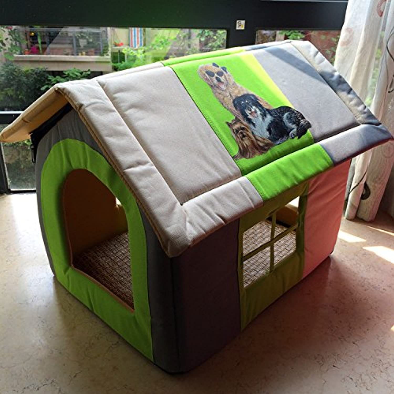 BPZLL Pet House Villa small cats and dogs home Kennel dog pet pet bed
