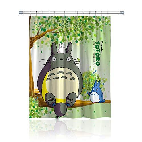 BANGSUN Totoro - Cortina de ducha japonesa de anime (6960 W, tela de poliéster impermeable por encargo)