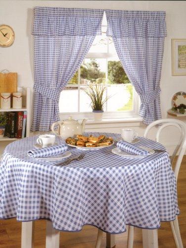Emma Barclay Molly Lot de Rideaux de Cuisine 100 % Polyester Bleu 116 x 121 cm