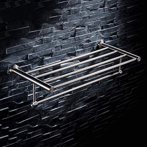 Toallero Acero inoxidable de baño toalla de toallas Estante moderno minimalista 304 alambre de acero inoxidable de doble capa de dibujo baño de toalla de baño Bar Estantes Baño ( Size : 100.5cm )