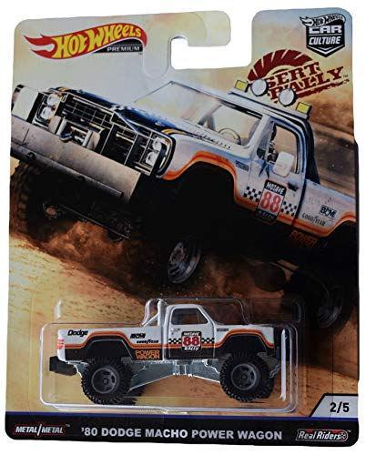 Hot Wheels Car Culture Desert Rally '80 Dodge Macho Power Wagon 2/5, White