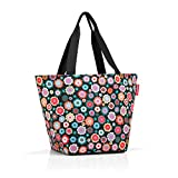reisenthel shopper M Bolsa de tela y playa, 51 cm, 15 liters, Multicolor (Happy Flowers)