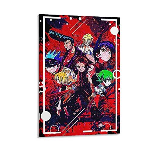 アニメシャーマンキングポスター装飾絵画キャンバスアートプリント画像家の壁の装飾16×24インチ(40×60cm)