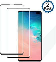 Galaxy S10 Plus Screen Protector, ICEN [2 Pack] 9H Hardness 3D Curved Premium Tempered Glass,HD Clarity,Anti Scratch, Anti-Bubble, Touch Screen Accuracy High Clear Film for Galaxy S10 Plus