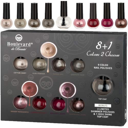 Boulevard de Beaute Nagellack Collection/Nail Polish Color Concepts 9 teilig