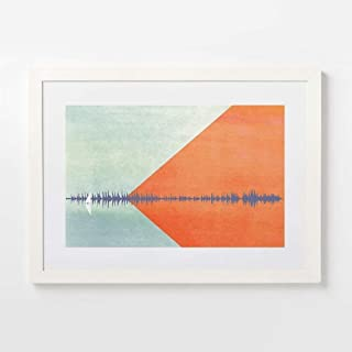 Personalized Soundwave Art print - Custom Music Gifts - Song Lyrics Sound Wave Art -Gift For Him Music Lover, Musician, Teacher, Thanksgiving Gifts For Friends, SOLO