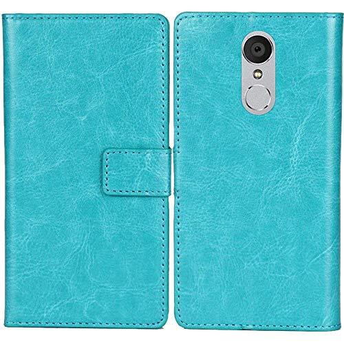 Lankashi PU Leder Tasche Hülle Für jiayu G5 / G5S Handy Flip Brieftasche Schutz Hülle Cover Etui Schutzhülle Klapphülle Handytasche (Farbe: Blau)