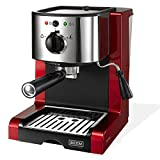 BEEM Germany Espresso Perfect Crema, Espresso-Siebträgermaschine mit 15 bar in brillantrot (...