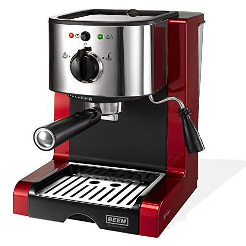 BEEM ESPRESSO-PERFECT | Espresso-Siebträgermaschine - 15 bar | BASIC SELECTION | Rot