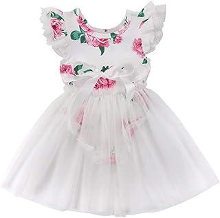 272e6726b69 DKmagic Toddler Kids Baby Girls Ruffle Elegant Princess Party Tulle Dress  Clothes