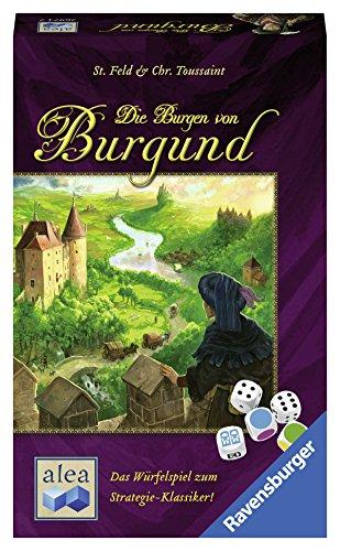 Alea- Gioco di Dadi Die Burgen von Burgund, Colore Bianco, 26974