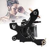 Tattoo Gun 10 bobinas de urdimbre máquina de Tatuaje para Liner Shader Arma de aleación de armazón Tallado CNC máquina de Tatuaje Artesanal Conectado para tatuadores