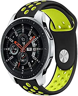 LNKOO Compatible Samsung Galaxy Watch (46mm) Bands, 22mm Width Soft Silicone Sport Band Replacement Strap Quick Release Pin Compatible Samsung Galaxy Watch (46mm) SM-R800/SM-R805