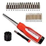 Toolman 30 in 1 Screwdriver hand tool Magnetic Precision Screwdriver Bit Slotted Cross Head For Heavy Duty Multi-tools screwdriver QTH001