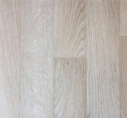 PVC Vinyl-Bodenbelag in weiß-beige rustikale Esche | Muster PVC-Belag | CV-Boden wird in benötigter Größe als Meterware geliefert | rutschhemmend