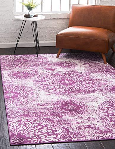 Unique Loom Sofia Collection Traditional Vintage Purple Area Rug (4' x 6')