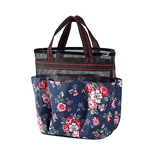 ZZXS Cosmetic bagHanging Mesh Bath Bag Tragbare schnell trocknende Reise-Einkaufstasche mit großer Kapazität Duschtasche für Bad Kosmetiktasche StrandtascheNavy