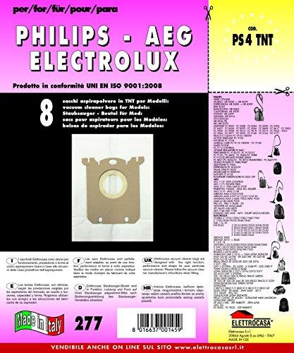 Elettrocasa PS 4 TNT A cilindro Sacchetto per la polvere accessorio e ricambio per aspirapolvere