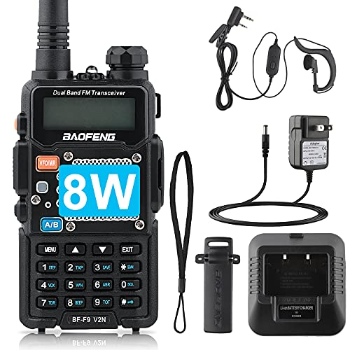 BaoFeng Two Way Radio,Brothers with BF-F8+/The UV-5R,8-Watt Dual Band Radio with 2100mAh Li-ion Battery Portable Walkie Talkies with Includes Full Kit