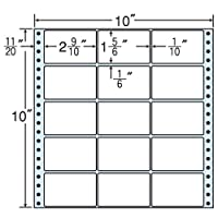 東洋印刷 タックフォームラベル 10インチ ×10インチ 15面付(1ケース500折) MX10F