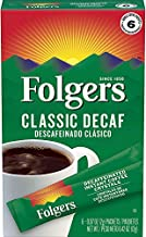 Folgers Decaf Classic Roast Instant Coffee Single-Serve Packets, 0.07 Oz, 6 Count - 4 pack