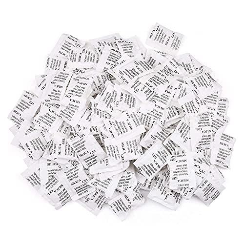LotFancy Trockenmittel Silicagel Desikkant, 2 g × 150 Stück, Sicherer Feuchtigkeitsabsorber für die Lagerung, Geruchsneutral (Zufällige neue order alte Verpackung)