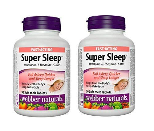 Webber Naturals Super Sleep Natural Formula for Insomnia and Anxiety 90 Tablets Twin Pack