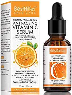 Vitamin C Serum For Face with 20% Vitamin C,Hyaluronic Acid and Vitamin E –Anti Aging & Anti Wrinkle Firming Serum - Best Face Serum For Women (1 pcs) from Donger