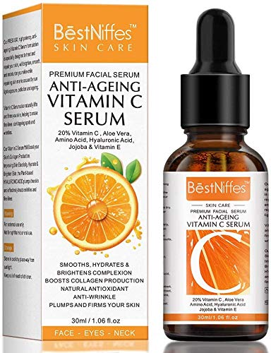 Vitamin C Serum For Face with 20% Vitamin C,Hyaluronic Acid and Vitamin E –Anti Aging & Anti Wrinkle Firming Serum - Best Face Serum For Women (1 pcs)