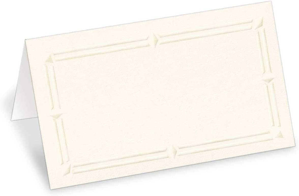PaperDirect 38lb Cream Cover Stock Folded Super popular specialty store Cards with Place Limited price