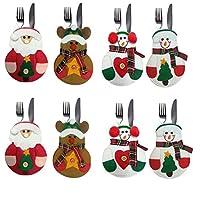 Materiale: tessuti non tessuti. Stile: Natale. Ideale per la festa di Natale o per la propria casa. Può contenere piccolo coltello, forchetta e bacchette e altre stoviglie e così via. Ideale per creare un' atmosfera natalizia.